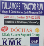 KMK Metals Sponsors the Tullamore Tractor Run 2016 - in Aid of Dóchas Offaly Cancer Support Group.