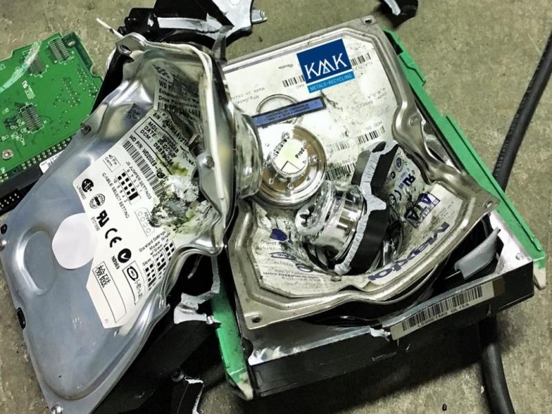 Hard Disk Drive (HDD) Destruction